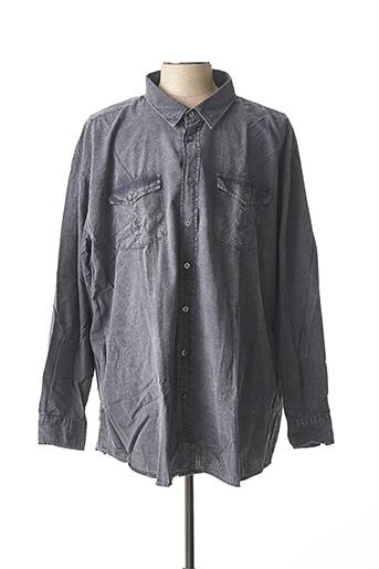 Chemise manches longues gris MONTE CARLO pour homme