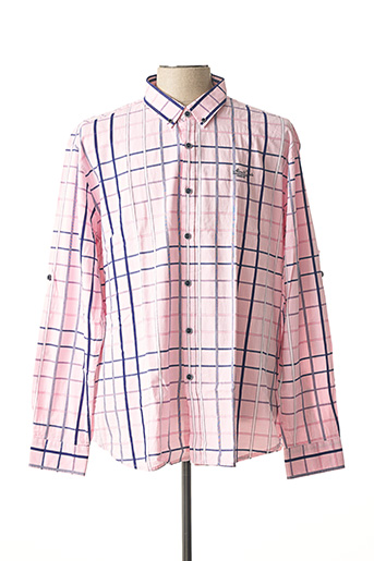 Chemise manches longues rose MONTE CARLO pour homme