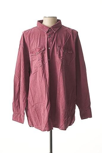 Chemise manches longues rouge MONTE CARLO pour homme