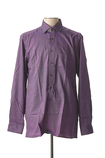 Chemise manches longues violet OLYMP pour homme