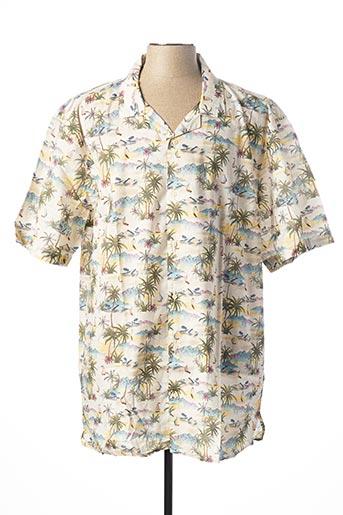 Chemise manches courtes beige MAXFORT pour homme