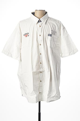 Chemise manches courtes blanc KITARO pour homme
