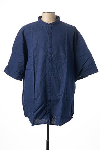 Chemise manches courtes bleu EASY COMFORT pour homme