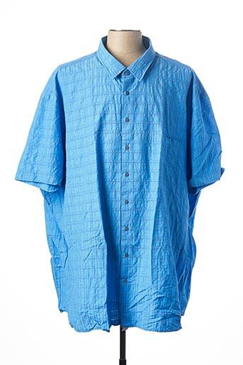 Chemise manches courtes bleu KITARO pour homme