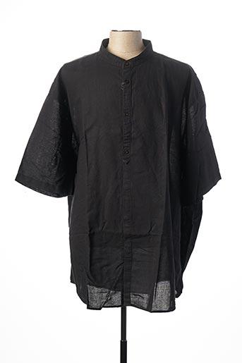 Chemise manches courtes noir EASY COMFORT pour homme
