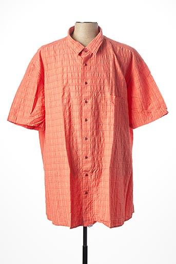 Chemise manches courtes orange KITARO pour homme