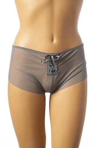 Shorty/Boxer gris SIMONE PERELE pour femme