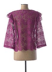 Gilet manches longues violet HEINE pour femme seconde vue