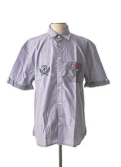 Chemise manches courtes bleu COMPTOIR DU RUGBY pour homme