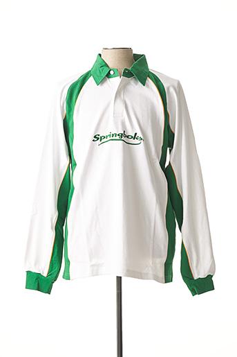 Polo manches longues vert CLOUD'S pour homme