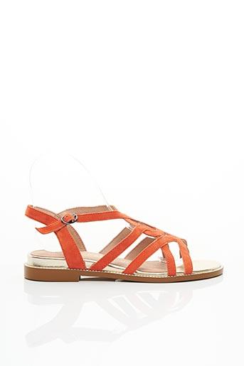 Sandales/Nu pieds orange EMILIE KARSTON pour femme