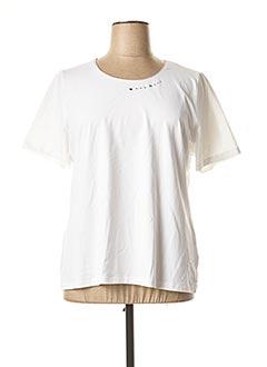 T-shirt manches courtes blanc CONCEPT K pour femme