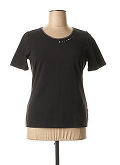 T-shirt manches courtes noir CONCEPT K pour femme