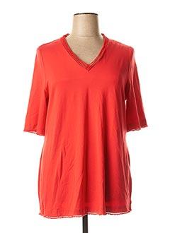T-shirt manches courtes rouge CHALOU pour femme