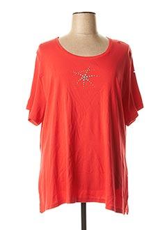 T-shirt manches courtes rouge GUY DUBOUIS pour femme