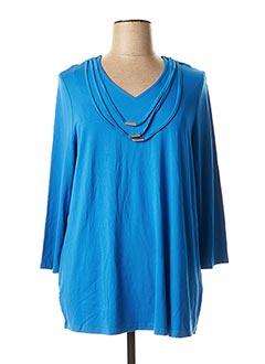 T-shirt manches longues bleu CHALOU pour femme