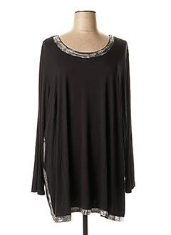 T-shirt manches longues noir CHALOU pour femme
