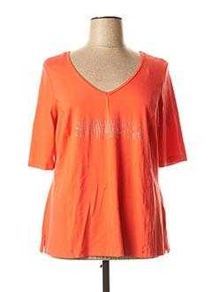 T-shirt manches longues orange SEMPRE PIU pour femme