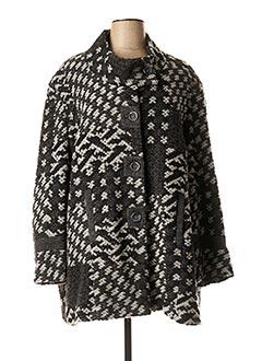 Manteau long gris GUY DUBOUIS pour femme