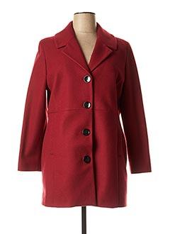 Manteau long rouge ZELI pour femme
