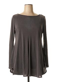 Tunique manches longues gris MAT. pour femme