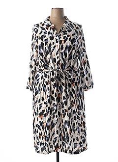 Robe mi-longue blanc CISO pour femme