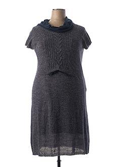 Robe pull gris MELLEM pour femme