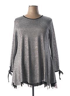Tunique manches longues gris OLIVER JUNG pour femme