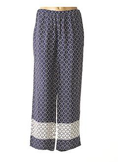 Pantalon casual bleu CHALOU pour femme