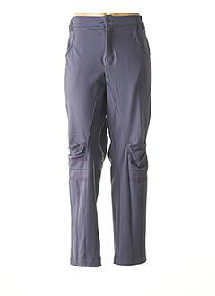 Pantalon casual bleu MY SQUARE pour femme