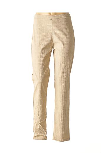 Pantalon casual beige G!OZE pour femme