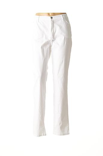 Pantalon casual blanc COWEST pour femme