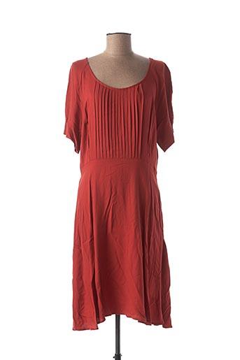 Robe mi-longue rouge ICHI pour femme