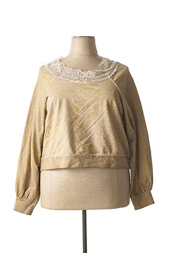 Sweat-shirt beige CHANTAL pour femme