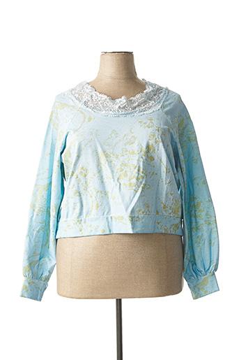 Sweat-shirt bleu CHANTAL pour femme