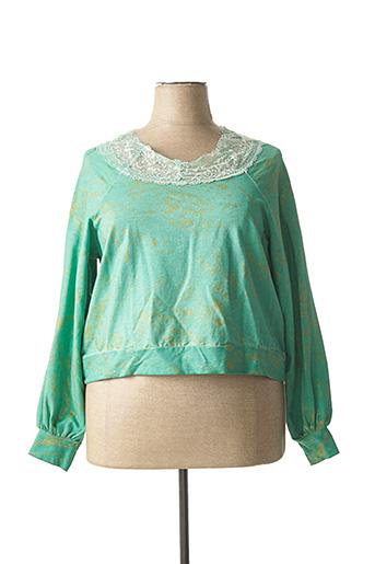 Sweat-shirt vert CHANTAL pour femme