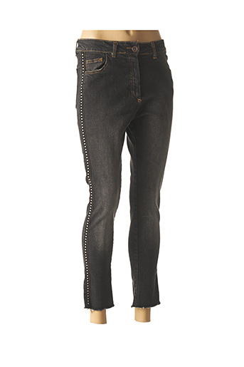 Jeans coupe slim gris BANDITAS FROM MARSEILLE pour femme
