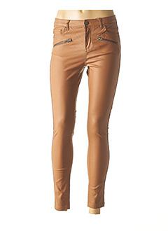Pantalon chic marron B.YOUNG pour femme