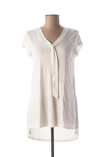 Tunique manches courtes blanc ESPRIT pour femme