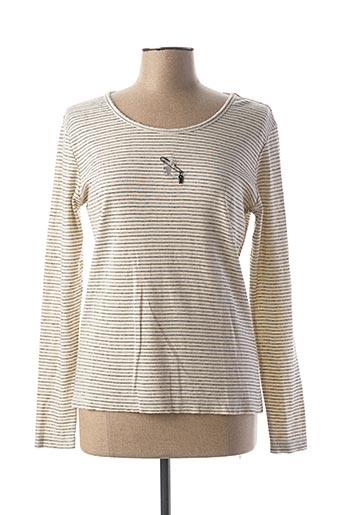 T-shirt manches longues beige DIPLODOCUS pour femme