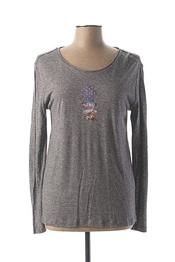 T-shirt manches longues gris DIPLODOCUS pour femme