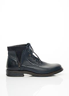 Bottines/Boots bleu SANTAFE pour homme