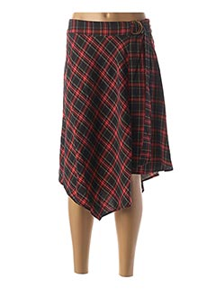 Jupe mi-longue rouge JUS D'ORANGE pour femme