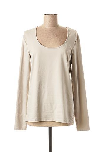 T-shirt manches longues gris MYRINE & ME pour femme