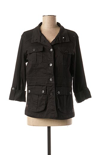 Veste casual noir QUATRE VINGT JOURS pour femme