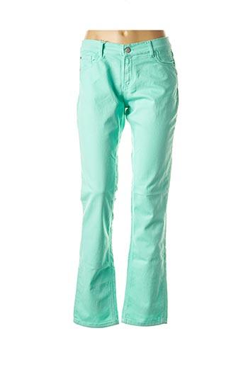 Jeans coupe droite vert SHAMS pour femme
