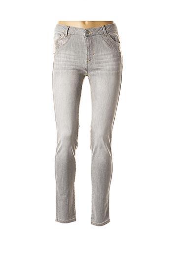 Jeans skinny gris EVA KAYAN pour femme