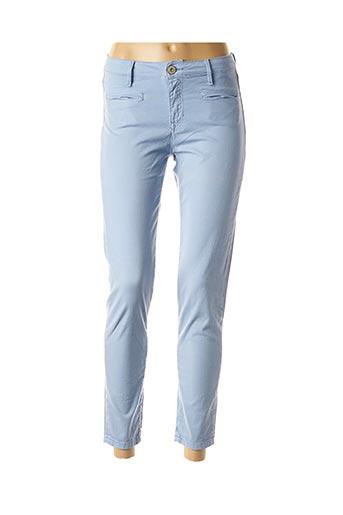 Pantalon 7/8 bleu DENIM STUDIO pour femme