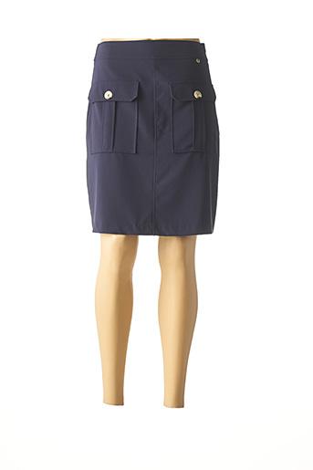 Mini-jupe bleu RINASCIMENTO pour femme