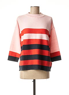 Pull col rond rose B.YOUNG pour femme